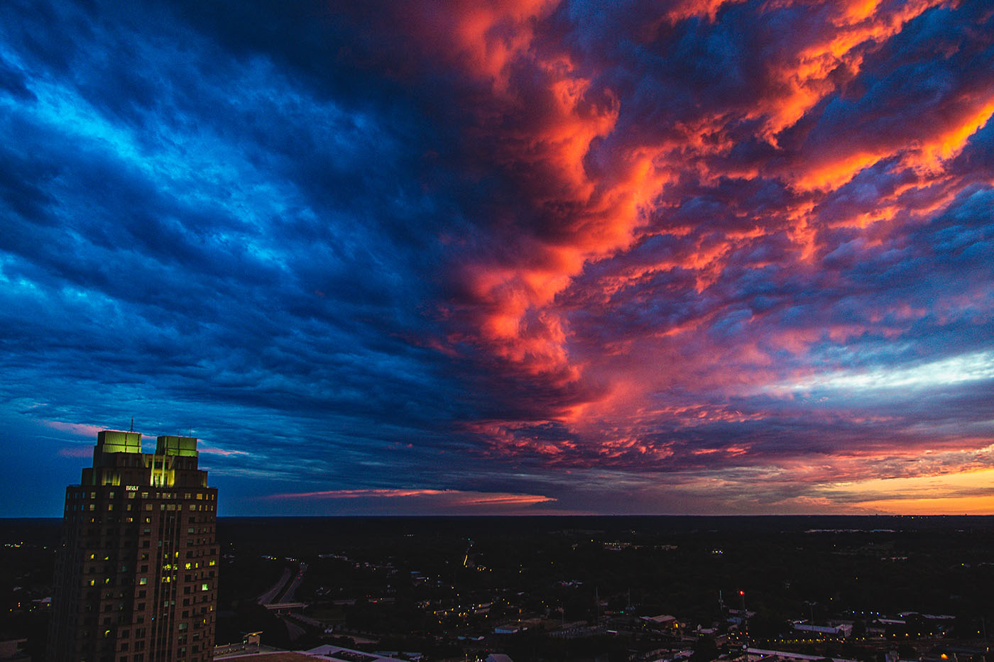 Architectural Photography: Raleigh skyline after a storm